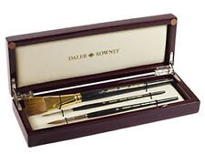 Daler Rowney Diana Kolinsky Sable Watercolour Brush Wooden Box - Sizes 2, 6, 1""