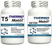 2 Thermo Matrix FAT BURNER & DETOX Diet Pills Strong Slimming Weight Loss Tablet