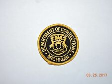 MI Michigan Department of Corrections DOC Police Patch #A22