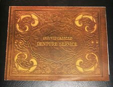 New listing Individualized Denture Service Color Pamphlet 1940 Excellent Condition N