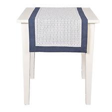 Tischläufer LUCA Blau Weiß 50x140 cm Punkte Landhausstil Shabby