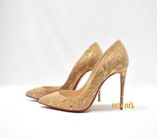 New Christian Louboutin Pigalle Follies Cork Pointed Toe Pump Shoes 36EU