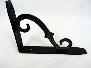 Vintage Decorative Wrought Iron Black Shelf Corbel