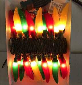 Chili Pepper String of Lights 33 Red Yellow Green Christmas RV Patio Camping