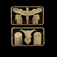 Metal Coins Jesus Gold Plated Bar Commemorative Coin for Souvenir Gift