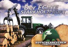 Kotschenreuther 220R 240R 2015 Broschüre brochure Waldschlepper forestry tractor