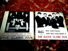 """LOT 2 DAVE CLARK FIVE 64-65 BRAZIL 7"""" BITS AND PIECES DO YOU LOVE ME ROCK POP"""