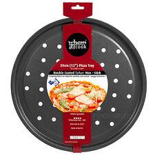12 Inch Pizza Oven Tray Double Coated Teflon Crisper Non Stick Large Baking Pan