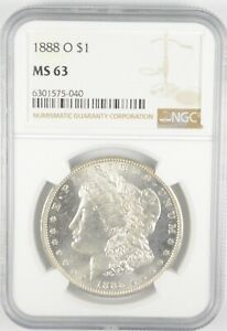 MS63 GRADED - 1888-O Morgan Silver Dollar- NGC *505