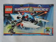 Lego de recette/INSTRUCTION Space Police 5981