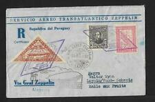 1932 PARAGUAY TO SWITZERLAND ZEPPELIN COVER VIA GERMANY, HIGH VALUE
