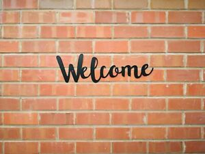 Welcome Letters lettering Sign Metal Home  Kitchen