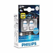 Genuine Philips 8000K T10 W5W LED Bulbs for Parking Lights Xenon White - New Gen