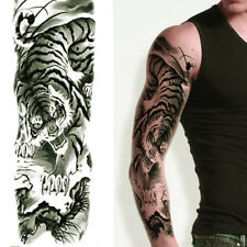 JAPANESE BLACK TIGER TEMPORARY TATTOO ARM SLEEVE LARGE REALISTIC UK