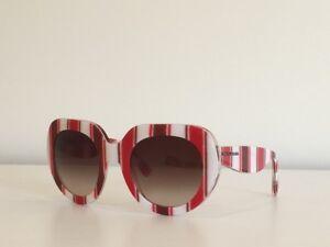 Dolce & Gabbana DG 4191P 2722/13 Round Red Striped Brown Sunglasses 50*23*140