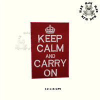Keep Calm And Carry On Patch Iron On Patch Sew On Embroidered Patch