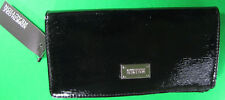 New Kenneth Cole Reaction Black Clutch Wallet With Tag