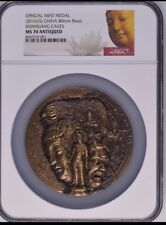 NGC MS70 2015 Shanghai Mint DunHuang Grottoes Brass medal 80mm with COA