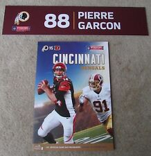 NFL Washington Redskins Pierre Garcon #88 London Game Locker Nameplate w/Program
