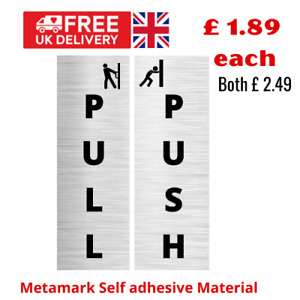 Pull and PUSH signs self adhesive sign for doors UK