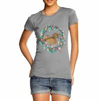 Twisted Envy Women's Squirrel Eating Acorns T-Shirt
