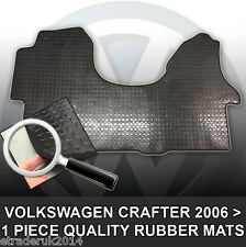 Vw Volkswagen Crafter 2006 > Van De Goma Piso Mat esteras Frontal Negro 1 Pieza Mat