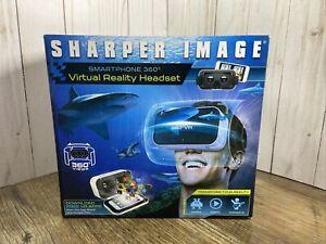 New Virtual Reality Headset Sharper Image Smartphone 360 Degree Views