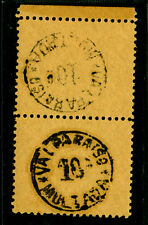 CHILE 1894  POSTAGE DUE - Handstamped 10c black - MINT  TETE-BECHE PAIR  RARE!