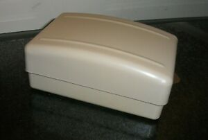 EMBEE Vintage Plastic Soap Dish Box Holder with Soap. Made in Gt.Britain.