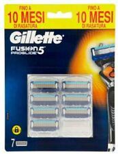 Gillette Fusion5 ProGlide lame di ricambio per rasoio 7 pezzi. Originale. Nuove