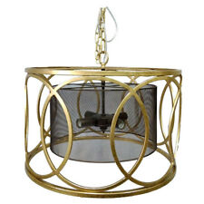 "Gold Cylinder Chandelier D20x16""-43745-DS"