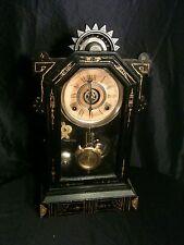 Antique Wm L. Gilbert Kitchen/Parlor Mantel Clock Look!
