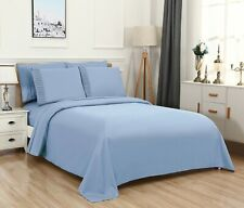 Bed Sheet Set, Extra Deep Pocket 6 Piece w/ Flat and Fitted, Super Soft, Bamboo.