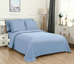 Bed Sheet Set, Extra Deep Pocket 6 Piece w/ Flat and Fitted, Super Soft, Bamboo