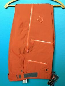 NORRONA Lofoten Gore Tex Insulated Pants Orange Sz L
