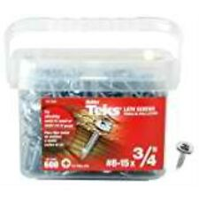 """ITW Brands 21506 #8 x 3/4"""" Teks No Pre-Drilling Lath Point Screws (600 Pack)"""