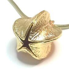 "KALEVALA KORU KK Finland - Beautiful Bronze Pendant / Chain ""Snow Flower"""