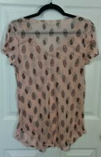 Mudd Owl Shirt - Sheer- Peach/Pink
