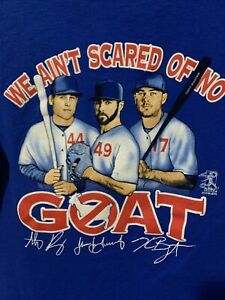 Chicago Cubs T Shirt 2016 We Aint Scared of no Goat Funny Gift Fan, Men, woman