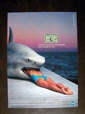 American Express / Franziska van Almsick - Orig. Werbung 1999 Reklame Advert