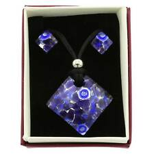 and Earrings Set - Peri GlassOfVenice Murano Glass Venetian Reflections Necklace
