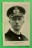 UM1) Marine Kapitän zur See Karl von Müller 1914-1918 S.M.S. EMDEN  1.WK WWI