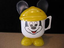Vintage Walt Disney Mickey Mouse Child Sippy Drinking Cup with Ears (X58)