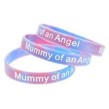 X2 Mummy of an Angel Wristband Silicone Bracelet Wristbands Child Baby Loss UK