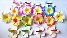 50pcs 6cm Foam Hawaiian Plumeria flower Frangipani Flower bridal hair clip