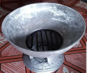 LARGE JAMAICAN COAL STOVE/COAL POT - FROM MONTEGO BAY MARKET- TRADITIONAL TASTE