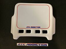 ATC Addiction Front Number Plate in WHITE. Honda 3 Wheeler 250R 350X 200X Maier