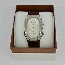Philip Stein 300SLGCRSTBR Signature XL Dual Time Men's Watch