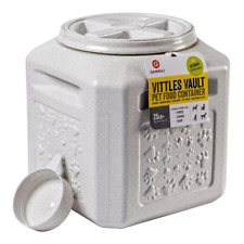 Dog Food Storage Vault Container Pet Cat Airtight Bin Fresh Vittles 25-lb Seal