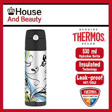 NEW Thermos S/Steel Vacuum Insulated Hydration Drink Bottle 530ml Butterfly